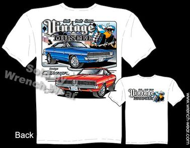 1968 1969 R/T Dodge Charger T Shirt  68 69 440 Mopar Vintage 426 Hemi Clothing