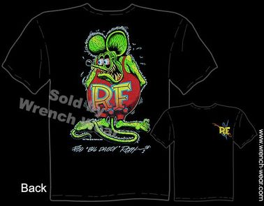 Ed Roth Signature T Shirt Rat Fink ShirtBlack Big Daddy Tee