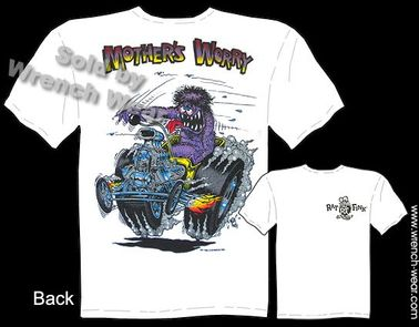 Mother's Worry Rat Fink T-shirt 1923 Ford Tee Big Daddy T Ed Roth Shirt