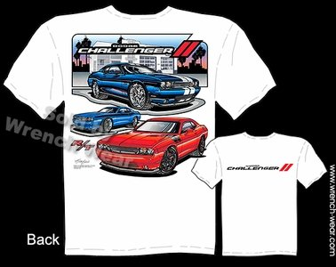 Challenger R/T T-shirt Mopar Dodge Shirt Hemi Apparel