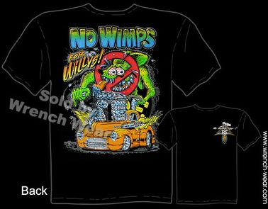 No Wimps Ratfink T Shirt 41 Willys Big Daddy Shirts 1941 Hot Rod Ed Roth Tee