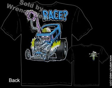 Race? Rat Fink Clothing Ford Hot Rod Ed Roth Tee Drag Nut Big Daddy T Shirt