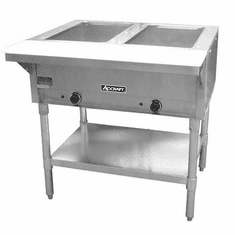 Adcraft 2 Bay Open Well Steam Table, Model# ST-120/2