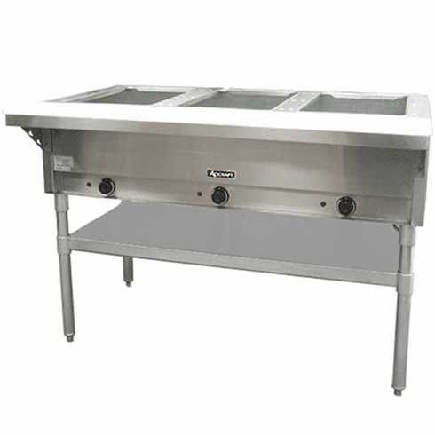 Adcraft 3 Bay Open Well Steam TableElectricHot Food Table, Model# ST-120/3