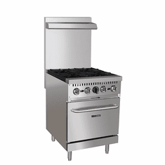 "Adcraft Black Diamond 24"" Gas Range With 4 Burners And OvenNatural Gas, Model# BDGR-24/NG"