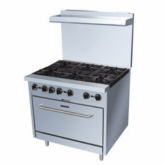 "Adcraft Black Diamond 36"" Gas Range With 6 Burners And OvenNatural Gas, Model# BDGR-36/NG"
