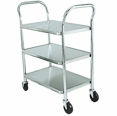 Adcraft Cart Utility S/S 3 Shelves, Model# 1624-3