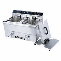 Adcraft Double Tank Deep Fryer With FaucetDf-12L-2, Model# DF-12L/2