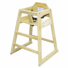 Adcraft High Chair Wood Knocked Down, Model# HCW-1KD