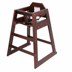 Adcraft High Chair Wood Mahogany Setup, Model# HCW-5