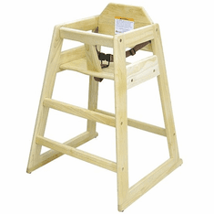 Adcraft High Chair Wood Natural Set-Up, Model# HCW-1