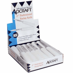Adcraft Knife Paring Whte Hdle 24 Pack, Model# CUT-3.25/CDWH