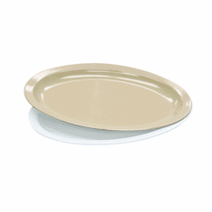 "Adcraft Oval Platter 12"" Tan, Model# MEL-OP12T"