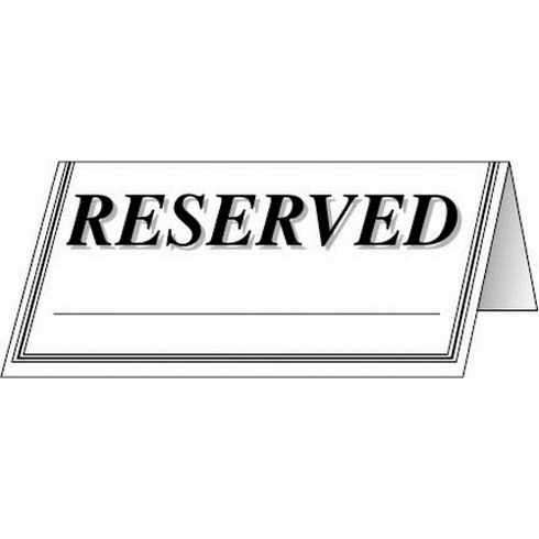 """Adcraft """"Reserved"""" Signs, Model# RES-48PK"""