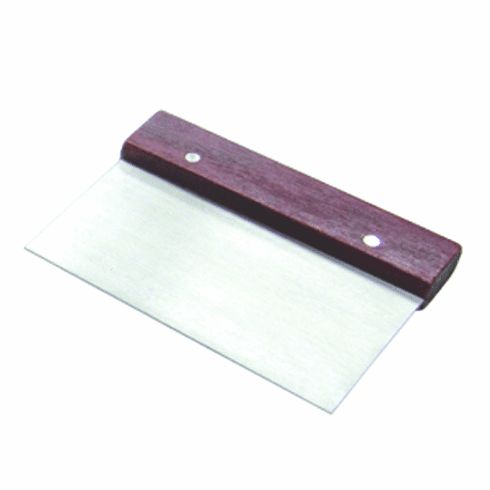 Adcraft Scraper Dough S/S Wood Handle, Model# DS-6