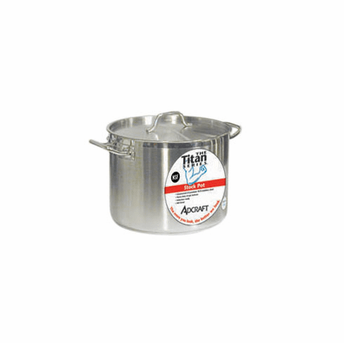 Adcraft Stock Pot S/S 40 Qt W/Cover, Model# SSP-40