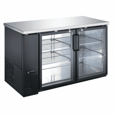 "Adcraft U-Star Bar Back Cooler27.75""D X 59""W19"" Cubic FeetGlass Door, Model# USBB-5928G"
