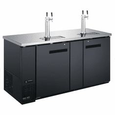 "Adcraft U-Star Kegerator / Beer Dispenser With 2 Double Tap Towers23.3 Cubic Feet27.75""D X 69""W, Model# USBD-6928/2"