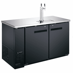 "Adcraft U-Star Kegerator / Beer Dispenser With Double Tap Tower19 Cubic Feet27.75""D X 59""W, Model# USBD-5928/2"