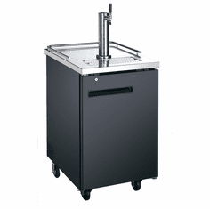 "Adcraft U-Star Kegerator / Beer Dispenser With Single Tap Tower1 Keg Capacity6.5 Cubic Feet30""D X 23.5""W, Model# USBD-2428"
