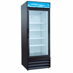 "Adcraft U-Star Merchandiser RefrigeratorRefrigerated Showcase32""D X 28""W23 Cubic Feet1 Sliding Glass DoorBlack, Model# USRFS-1D/B"