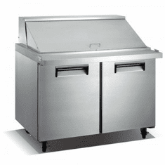 "Adcraft U-Star Refrigerated Mega Top Salad / Sandwich Prep Table2 Door34""D X 47""W9.5 Cubic FeetSs, Model# USSLM-2D"