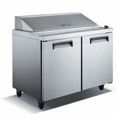 "Adcraft U-Star Refrigerated Salad / Sandwich Prep Table 29.5""D X 60""W 15 Cubic Feet 2 Door, Model# USSL-2D/60"