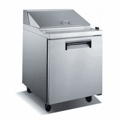 "Adcraft U-Star Refrigerated Salad / Sandwich Prep Table29.5""D X 27""W5.75 Cubic FeetSs2 Door, Model# USSL-1D"