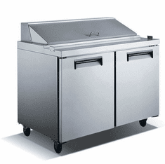 Admiral Craft Salad Prep Table E Series 2 Door Model GRSL-2D