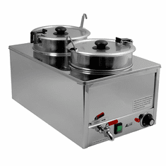 Alfa Double Warmer With Spigot Food Warmers, Model# fw9002