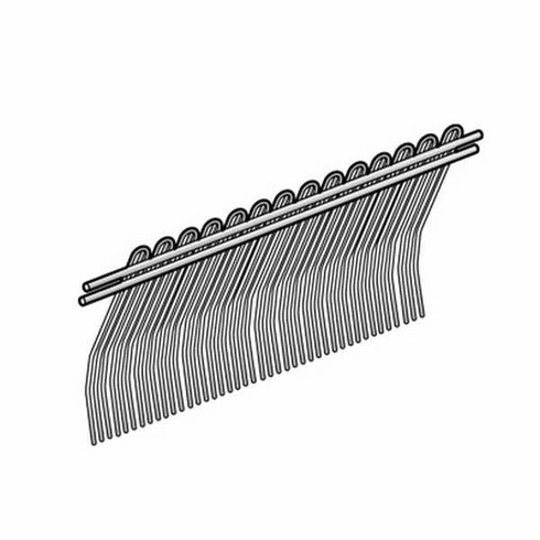 Alfa Dual Ridged Front Comb/Parts For Biro Tenderizers, Model# BT-116