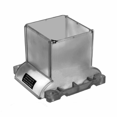 Alfa International Hopper Top New Style Clear Parts For Hollymatic Super 54 Patty Maker, Model# HOL113C