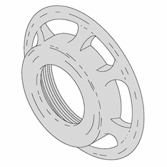 Alfa Ring For Hobart 12 Attachment/Chopper Components (Made In The USA), Model# HRNG-12