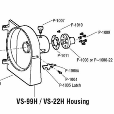 Alfa Vs-99H Housing Gasket/Shim, Model# p-1011