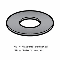 Alfa Worm Thrust Washer-Pk/12-Black (Made In The USA), Model# 22-1 1/2x7/8