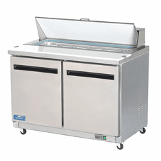 """Arctic Air 48"""" Refrigerated Sandwich Prep Table Solid Door, Model# AST48R"""
