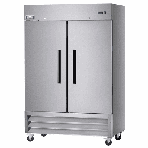 """Arctic Air 54"""" Refrigerator Two Section Reach-In 49 Cubic Feet Solid Door, Model# AR49"""