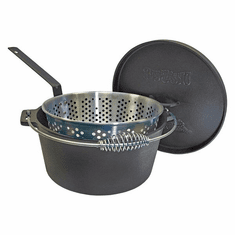 Bayou Classic 14 Qt Dutch Oven w/ Basket And Stainless Handle, Model# 7465