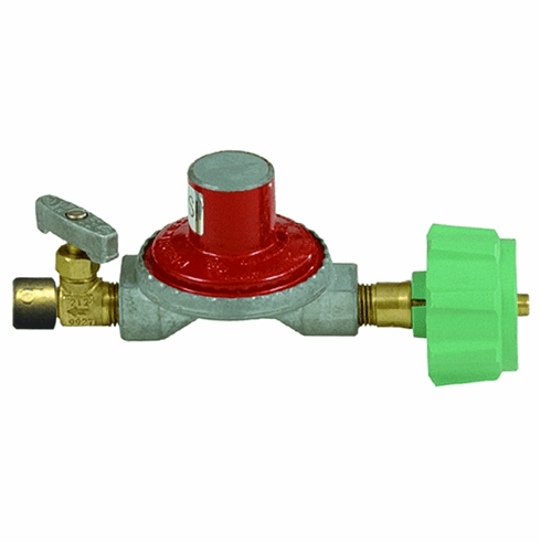 Bayou Classic 10 Psi Regulator With Brass Control Valve For Fry Burners, Model# 7000