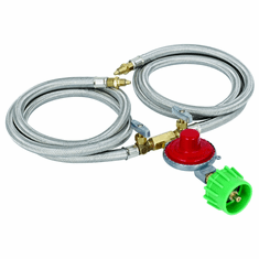 Bayou Classic 10 PSI Dual Hose / Regulator Assembly, Model# M2HPH
