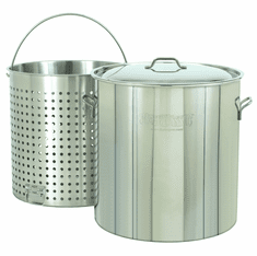 Bayou Classic 102 Qt Stainless Stockpot w/ Basket, Model# 1102