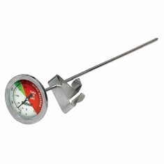 """Bayou Classic 12"""" Fry Thermometer w/ Stem Clip, Model# 5025"""