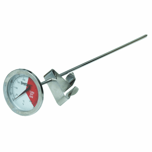 """Bayou Classic 12"""" Stainless Steel Thermometer - Carded, Model# 5025"""