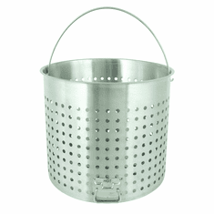 Bayou Classic 122 Qt Stainless Basket w/ Helper Handle, Model# B122