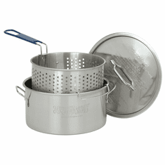 Bayou Classic 14 Qt Stainless Fry Pot w/ Lid Basket, Model# 1150