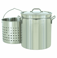 Bayou Classic 24 Qt Stainless Stockpot w/ Basket, Model# 1124