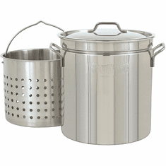 Bayou Classic 36 Qt Stainless Stockpot w/ Basket, Model# 1136