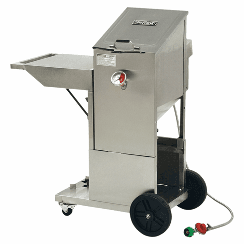 Bayou Classic 4 Gallon Bayou Fryer & Accessory Cart - Stainless Steel, Model# 700-704