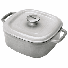 Bayou Classic 4 Qt Enameled Covered Casserole Weathered Gray, Model# 7722S