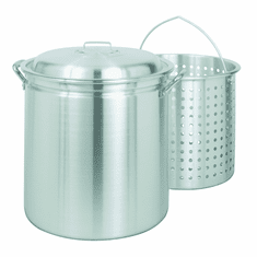 Bayou Classic 42 Quart Steam / Boil Aluminum Stockpot With Lid And Basket, Model# 4042